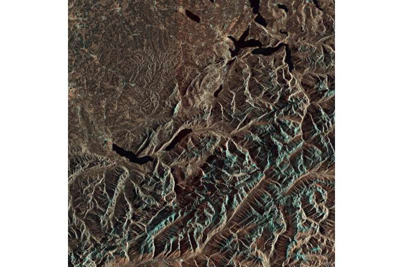 Image: Bernese Alps from Copernicus Sentinel-1A