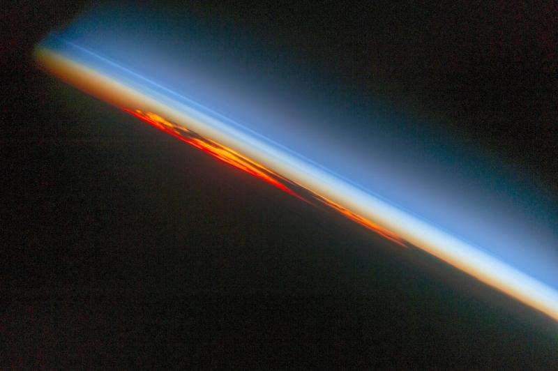 Image: Fiery south Atlantic sunset