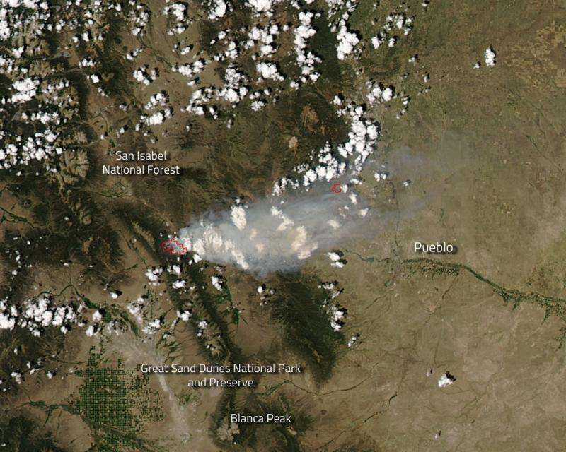 Image: Hayden Pass fire in Colorado continues to grow