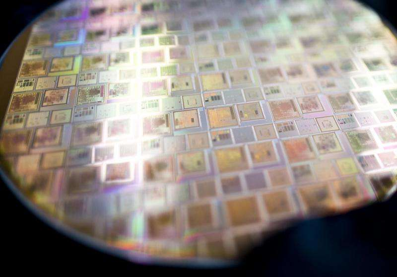 Image: Integrated circuits on silicon