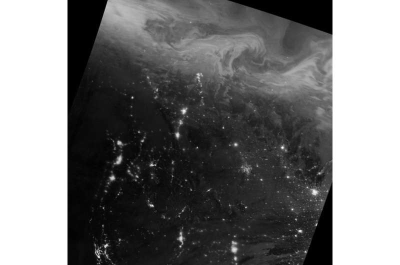 Image: Northern lights over Canada