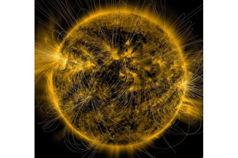 Image: Picturing the sun's magnetic field