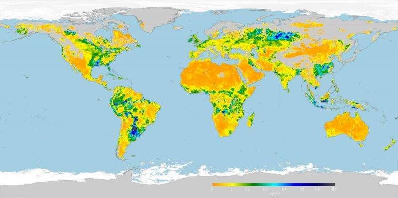 Image: Root-zone soil moisture map