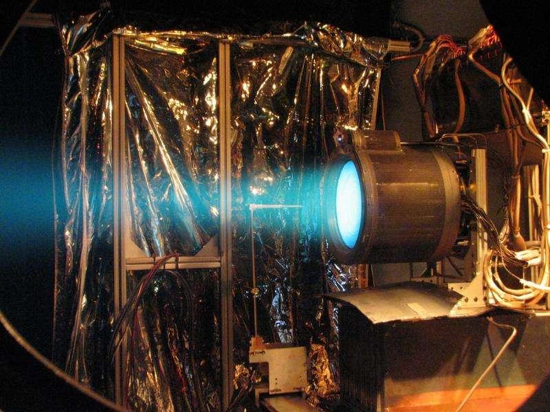 Image: T6 ion thruster firing