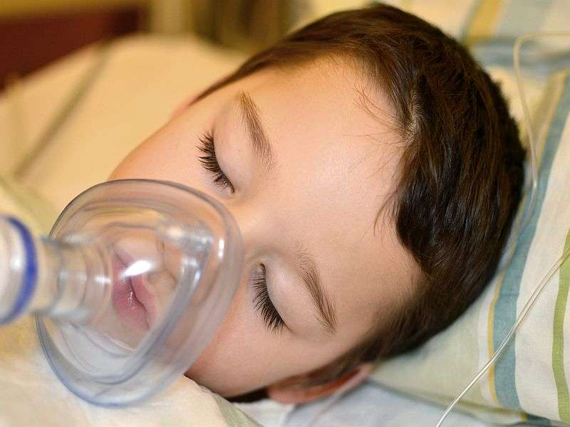 Intraocular pressure down with anesthesia in children