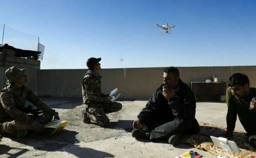 Iraqi government forces as well as Islamic State (IS) group jihadists already use drones for reconnaissance mission, such as the