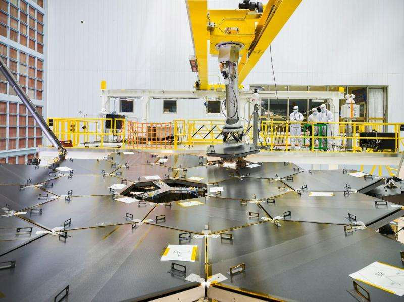 James Webb Space Telescope Primary Mirror Fully Assembled