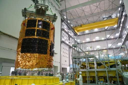 """Japan's unmanned cargo spacecraft, """"Kounotori"""" is to blast off from the southern island of Tanegashima around 10:30 pm"""