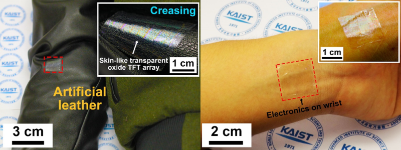 KAIST develops ultrathin, transparent oxide thin-film transistors for wearable display