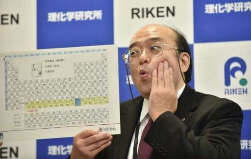 Kosuke Morita led a team of scientists that has been awarded the right to name a synthetic element they created, which will beco