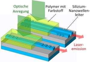 Laser source for biosensors