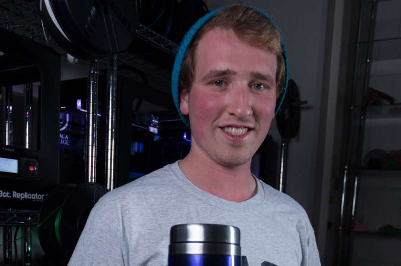 Lending a hand: Student 3-D prints functional, affordable prosthetic