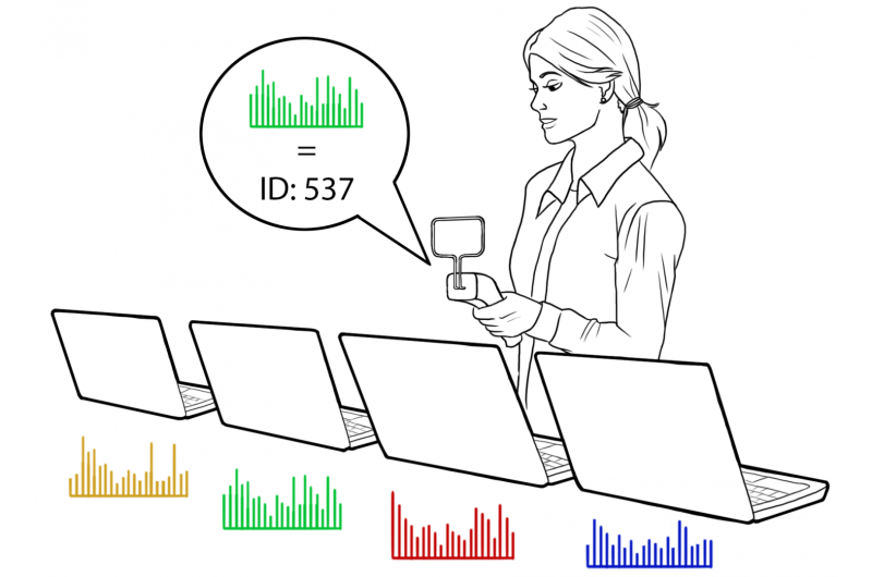 Like a fingerprint, system noise can be used to differentiate identical electronic devices