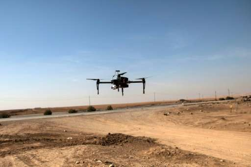 Military experts worry the Islamic State group could use drones to cause violence, such as this one belonging to the Iraqi Feder