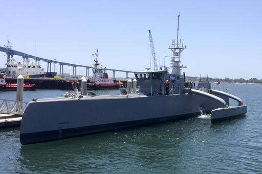 Move over drones, driverless cars -- unmanned ship up next