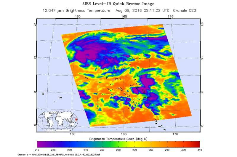 NASA gets an infrared look at newly formed Tropical Depression 08W