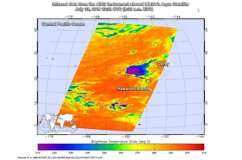 NASA gets last looks at former Tropical Storm Darby