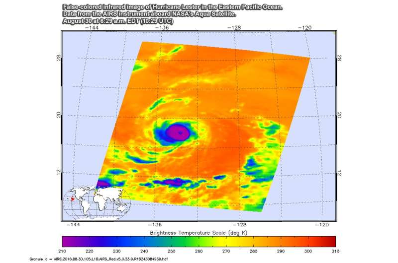 NASA looks at Eastern Pacific's Category 3 Hurricane Lester