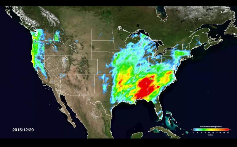 NASA maps El Nino's shift on US precipitation