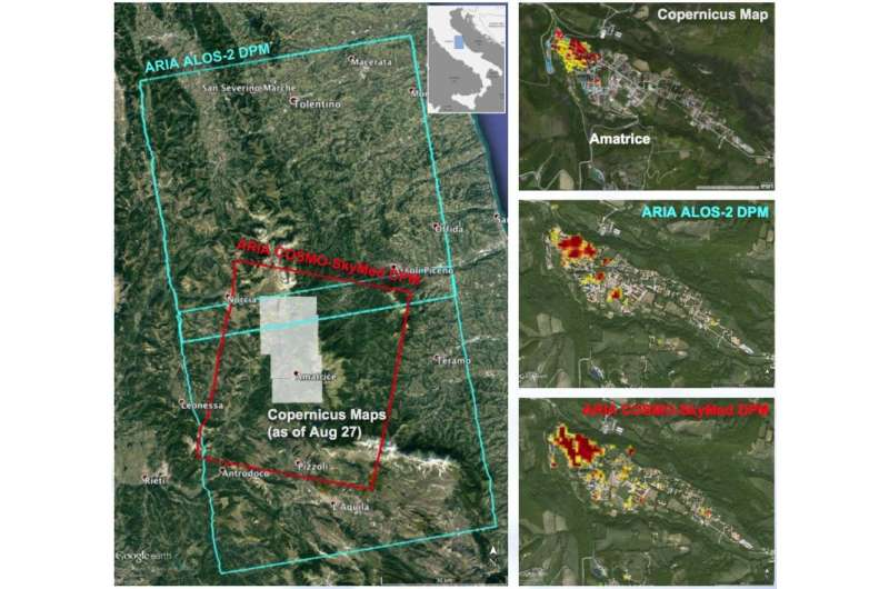 NASA-produced maps help gauge Italy earthquake damage