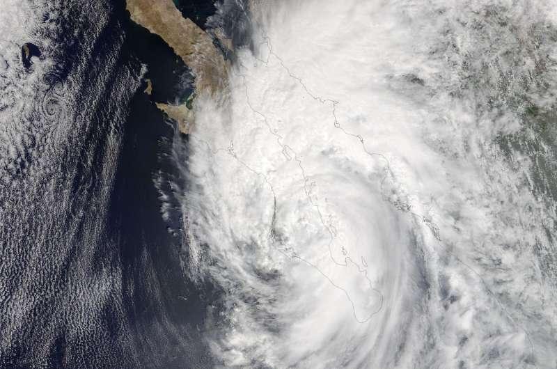 NASA sees 2 landfalls for Hurricane Newton in Mexico