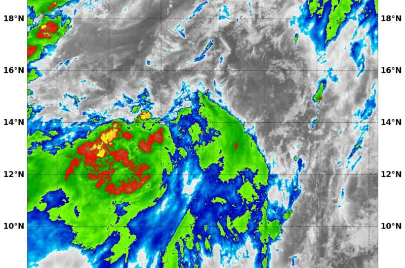 NASA sees a small tropical depression 14W