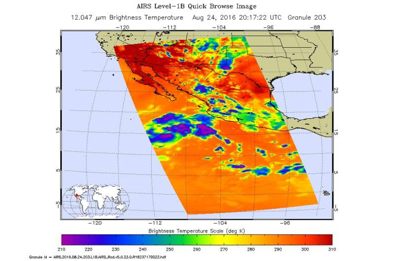 NASA sees examines new tropical storm in infrared light