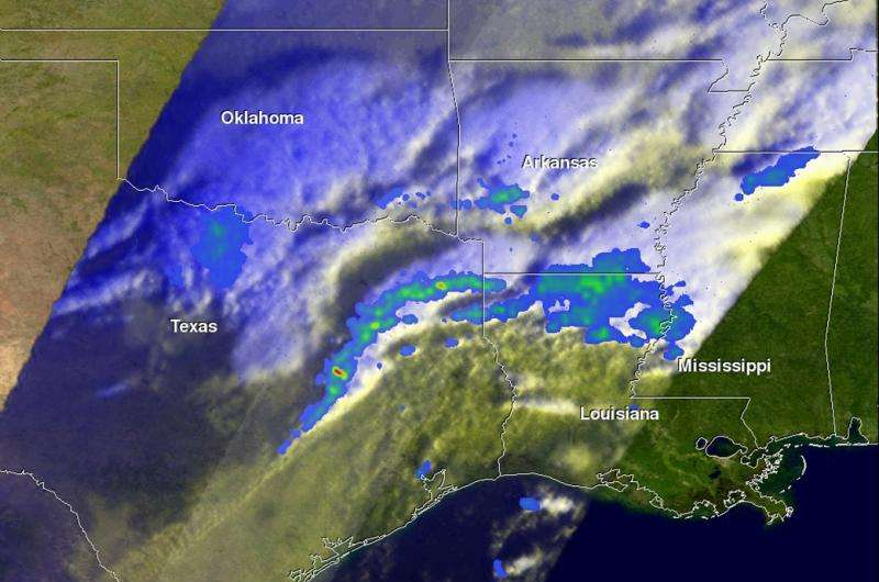 NASA sees gulf coast severe weather from developing winter storm