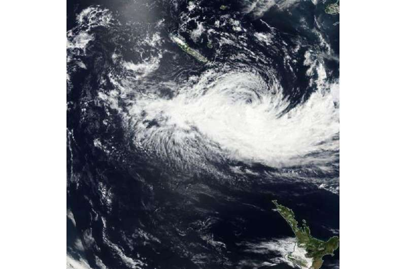 NASA sees Winston winding down near Norfolk Island
