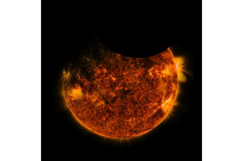 NASA's SDO witnesses a double eclipse