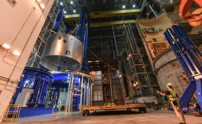 NASA welds first flight section of SLS core stage for 2018 maiden launch