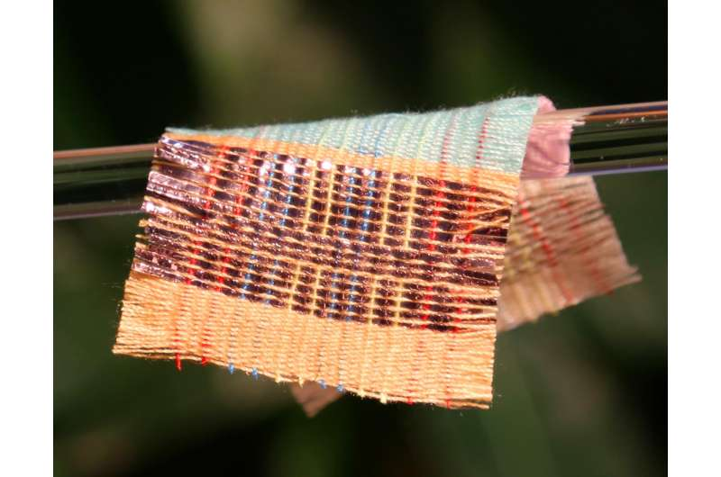 New fabric uses sun and wind to power devices