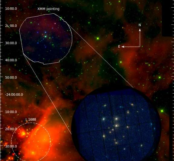 New stars discovered in the Rho Ophiuchi Dark Cloud