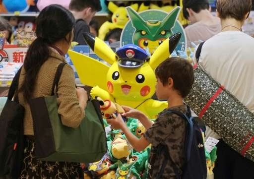 Nintendo, the Pokemon franchise creator, surged nearly 11% to end the morning at 30,780 yen ($290), up more than 100% from its J