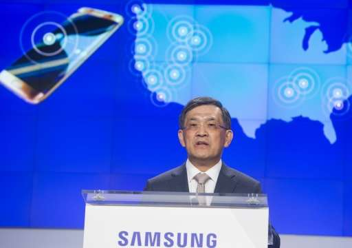 """Oh-Hyun Kwon, Vice Chairman and CEO of Samsung Electronics, speaks during the """"Internet of Things: Transforming the Future&"""