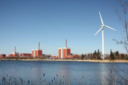 Olkiluoto nuclear power plant on the island of Eurajoki, western Finland