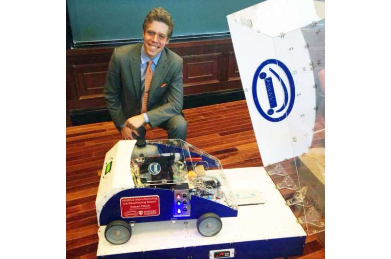 On the road with a 3-D printer to help meet demand for repairs