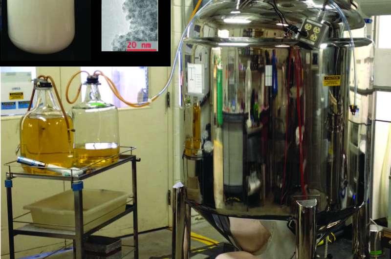 ORNL demonstrates large-scale technique to produce quantum dots