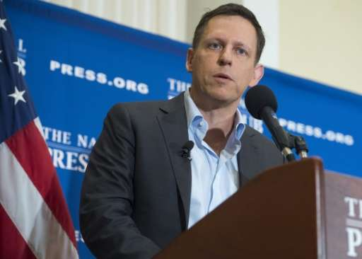 PayPal's co-founder Peter Thiel bucked the trend in Silicon Valley by donating $1.25 million to Trump's campaign