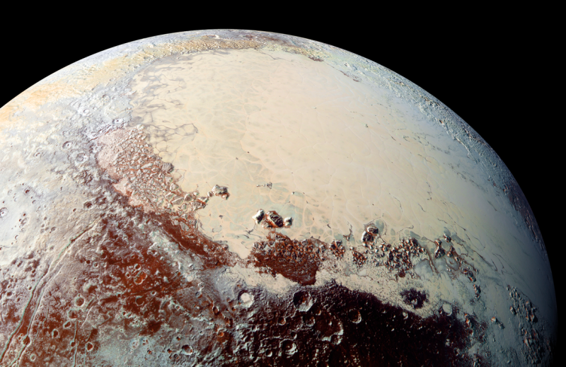 Pluto follows its cold, cold heart