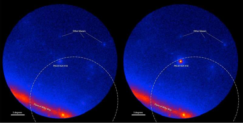 Possible extragalactic source of high-energy neutrinos