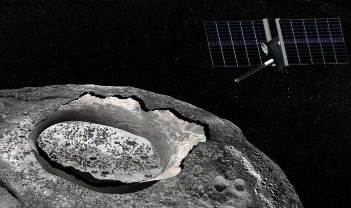 Pure metal asteroid has mysterious water deposits