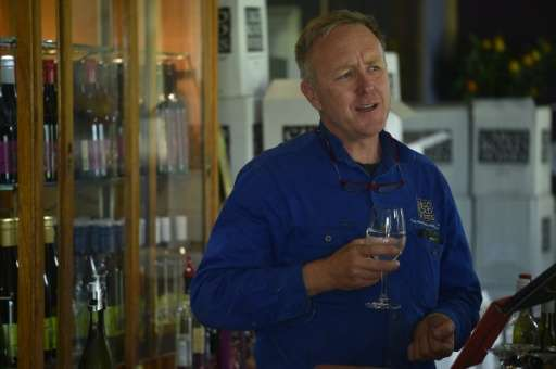 """""""I've been here for 20 years ... and we're seeing more severity in the weather,"""" says winemaker James Sweetapple"""