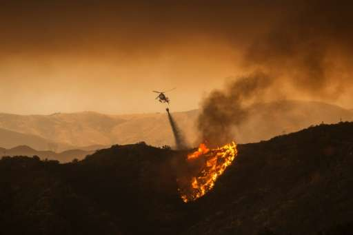 """""""Sand Fire"""" is only 10 percent contained, according to the National Wildfire Coordinating Group (NWCG)"""