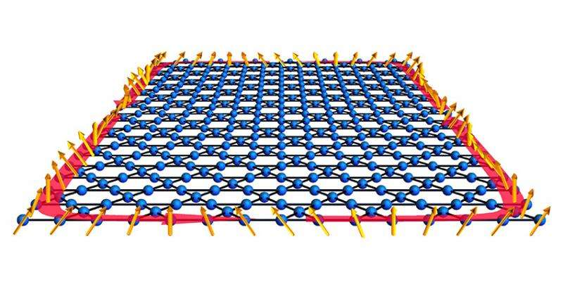 Realization of a novel material that can conduct magnetic waves on its edge, but not within its bulk