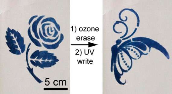 Rewritable material could help reduce paper waste