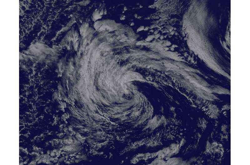 Satellite tracks the remnants of Tropical Storm Georgette