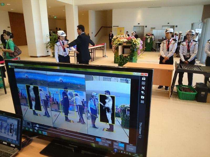Sensor system to speed up airport security screening