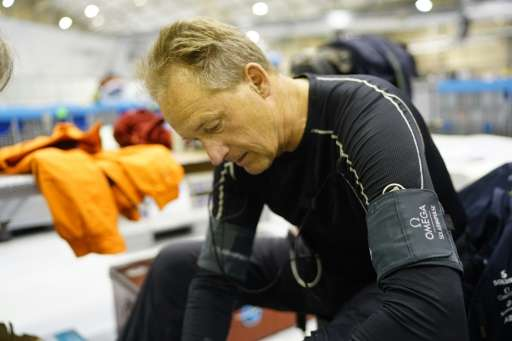 Swiss businessman Andre Borschberg prepares to fly Solar Impulse 2 from Tulsa, Oklahoma to Dayton, Ohio