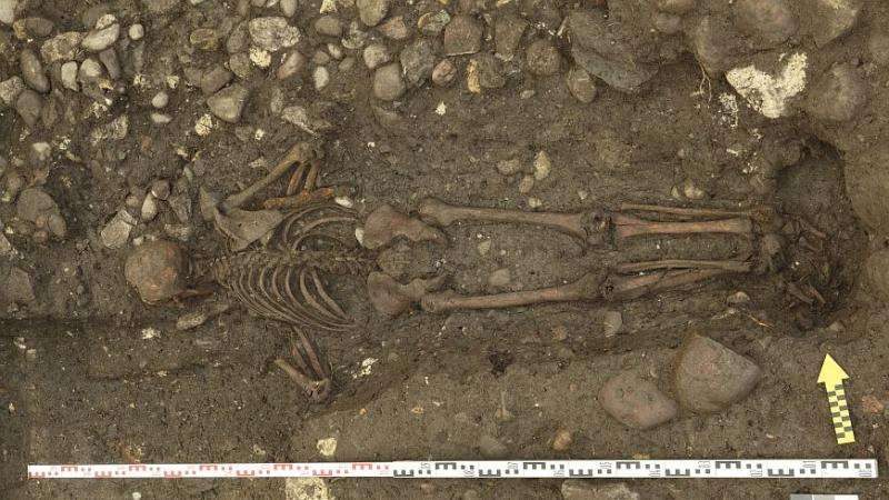 The 17th-century man who was buried face down